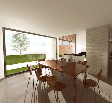 Comedor: Comedores de estilo moderno por artefacto arquitectura