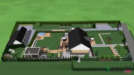 Projekt ogrodu nowoczesnego: styl , w kategorii Ogród zaprojektowany przez Design We Are 3D