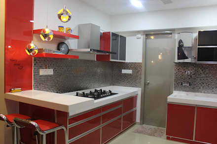 Amanora Park Town: Built In Kitchens By Area Planz Design
