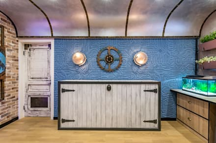 Стимпанк на субмарине: Спальни для мальчиков в . Автор – Школа Ремонта