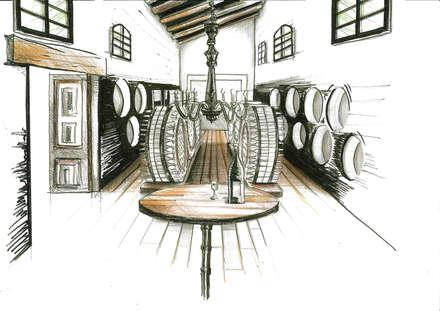 Tienda para bodega en Jerez de la Frontera: Locales gastronómicos de estilo  de Cristina Monge