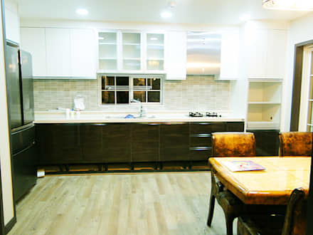 세종시 청벽마을 45평형 ALC친환경 리모델링: W-HOUSE의  주방 설비