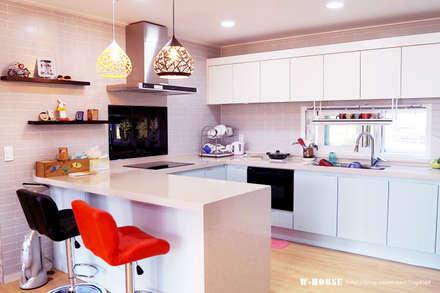 서천 8호 35평형 ALC전원주택: W-HOUSE의  주방 설비