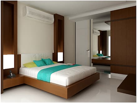 modern Bedroom by RAJESH GAJJAR arch.int dsr