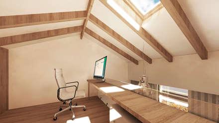 Projecto de Reabilitação e Ampliação : Quartos modernos por Ar Studio Architects