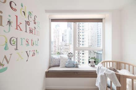 Cherry Crest: scandinavian Nursery/kid's room by Clifton Leung Design Workshop