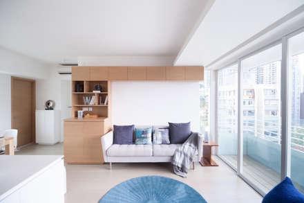 Cherry Crest: scandinavian Living room by Clifton Leung Design Workshop
