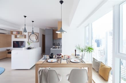 Cherry Crest: scandinavian Dining room by Clifton Leung Design Workshop