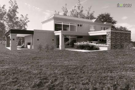 Casas rurales de estilo  de áwaras arquitectos