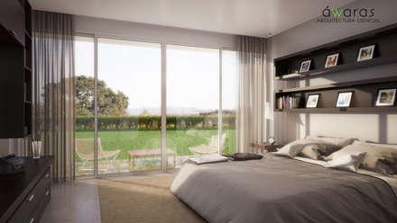 CASA VS | INTERIORES | SUITE : Dormitorios de estilo clásico por áwaras arquitectos
