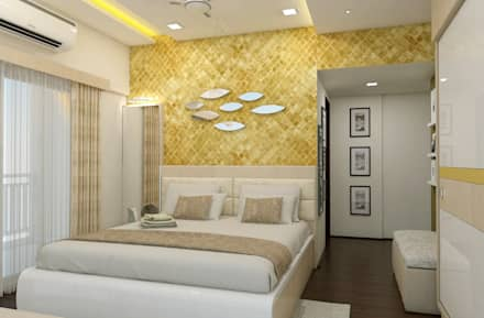 3 bhk flat lodha meridian modern bedroom by shree lalitha consultants - Interior Design Ideas For Bedroom