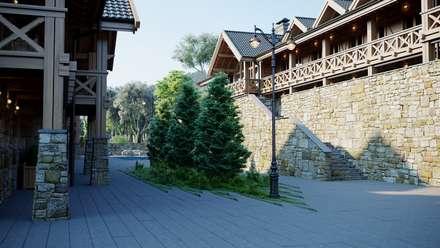 Монблан: Деревянные дома в . Автор – Максим Любецкий