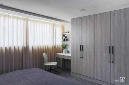 台中 - 休憩之家:  臥室 by 禾廊室內設計