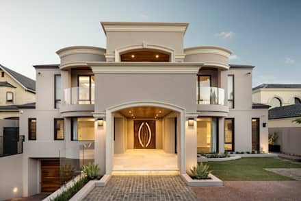 Front Exterior of Home:  Detached home by Moda Interiors