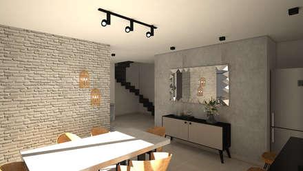 Diseño interior Apartamento con estilo industrial: Comedores de estilo industrial por ecoexteriores