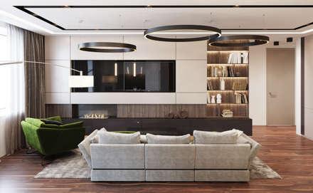 Квартира в Новопеределкино: Гостиная в . Автор – MonDesign