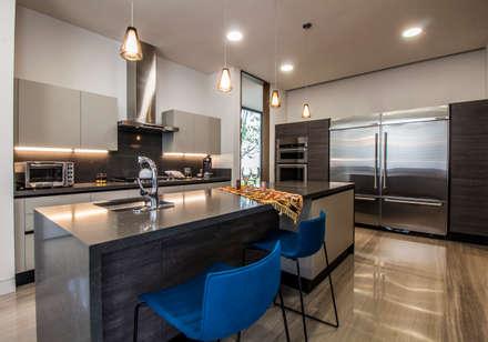 Casa del Tec, Residencia Ithualli: Cocinas de estilo moderno por IAARQ (Ibarra Aragón Arquitectura SC)