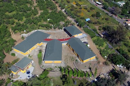 Foto aérea general: Techos de estilo  por Plan V Arquitectos Ltda