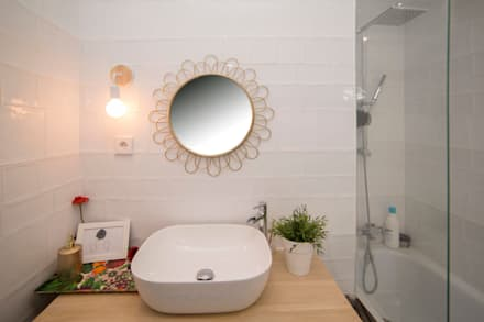 Baño: Baños de estilo moderno de Remake lab