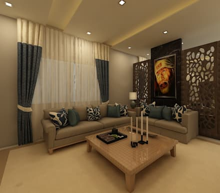 Living room design ideas interiors pictures homify for Best living room designs india