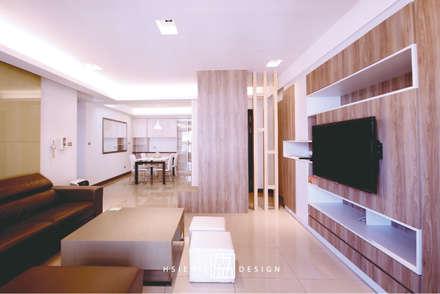 Salas / recibidores de estilo escandinavo por 協億室內設計有限公司