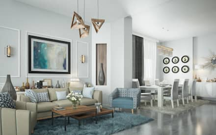 Private Apartment : classic Living room by H9 Design