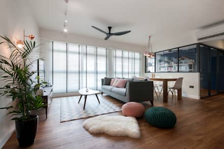 COMPASSVALE ANCILIA II: scandinavian Living room by Eightytwo Pte Ltd