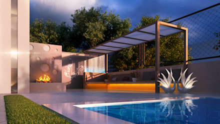 Private Villa: modern Pool by H9 Design