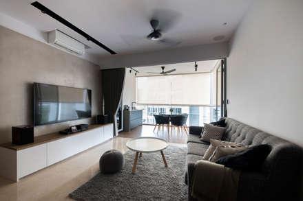 HILLSTA: scandinavian Living room by Eightytwo Pte Ltd