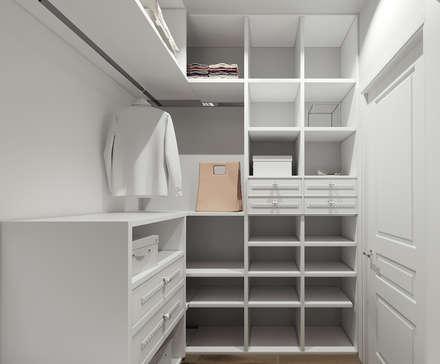 Квартира в ЖК Лобачевский: Гардеробные в . Автор – MonDesign