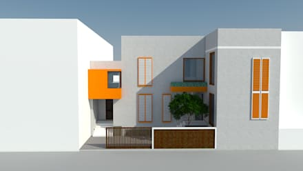 front view:  Single family home by Habitat Design Collective (HDeCo)