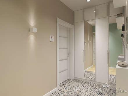 Дизайн однокомнатной квартиры - 44 м²: Коридор и прихожая в . Автор – variatika