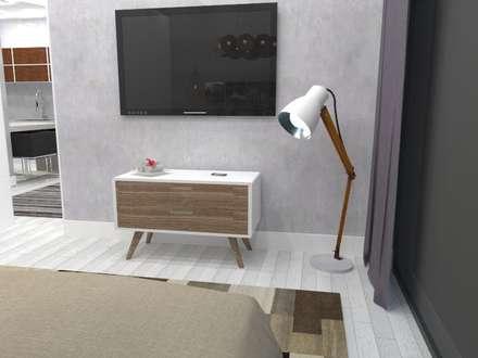 Viviendas prefabricadas modelo Neo: Dormitorios de estilo moderno de A-kotar