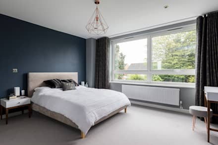 Whole House Renovation, Cheam, Surrey : modern Bedroom by Model Projects Ltd