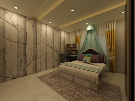 Bedroom : country Bedroom by Regalias India Interiors & Infrastructure