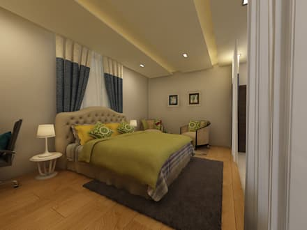 Master Bedroom : country Bedroom by Regalias India Interiors & Infrastructure