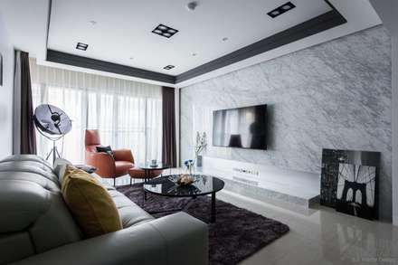 رہنے کا کمرہ  by 湘頡設計