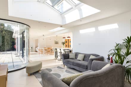 Shaun And Jenny, Bookham Surrey House Transformation: Modern Living Room By  Model Projects Ltd