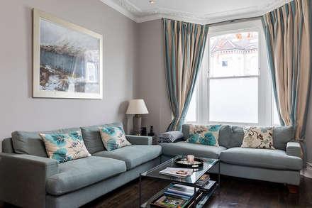 Jess & Hugo's Shepherd's Bush Renovation: classic Living room by Model Projects Ltd
