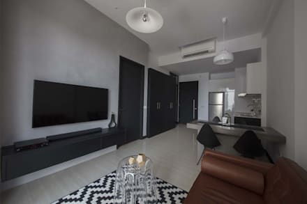 ECO: modern Living room by Eightytwo Pte Ltd