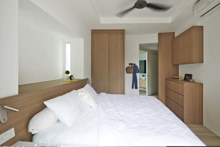 COTE D'AZUR: scandinavian Bedroom by Eightytwo Pte Ltd