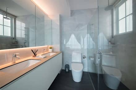 EASTWOOD GREEN 2: scandinavian Bathroom by Eightytwo Pte Ltd