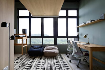Ecosanctuary rustic study office by eightytwo pte ltd