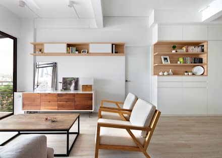 THE BALE: scandinavian Living room by Eightytwo Pte Ltd