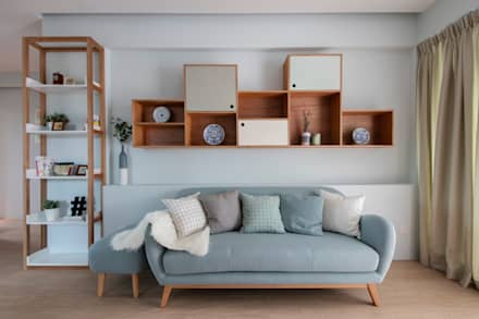 THE STELLAR: scandinavian Living room by Eightytwo Pte Ltd