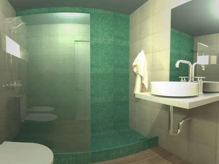 Casa Norita : Baños de estilo moderno por CRea - Arquitectura + Diseño