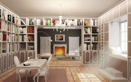 Stanze in successione, carattere per ogni stanza: Studio in stile in stile Eclettico di Arch. Francesco Antoniazza - Dimore di Lago