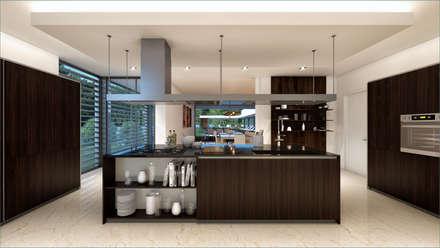MORADIA SG1: Cozinhas modernas por Traçado Regulador. Lda
