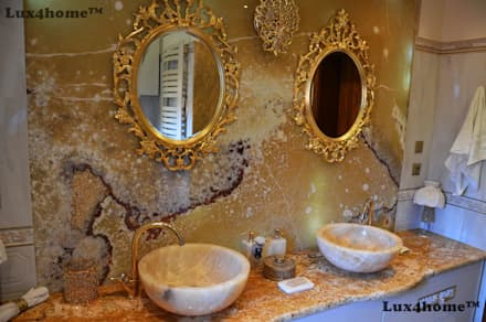 Onyx stone sinks - stone bowl sinks: colonial Bathroom by Lux4home™ Indonesia