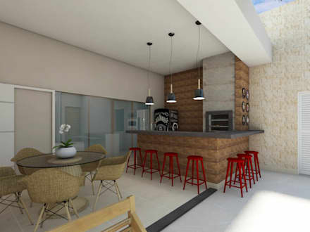 Residência JT: Piscinas modernas por Juliana Azanha   Arquitetura e Interiores